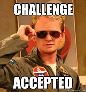 challenge accpeted
