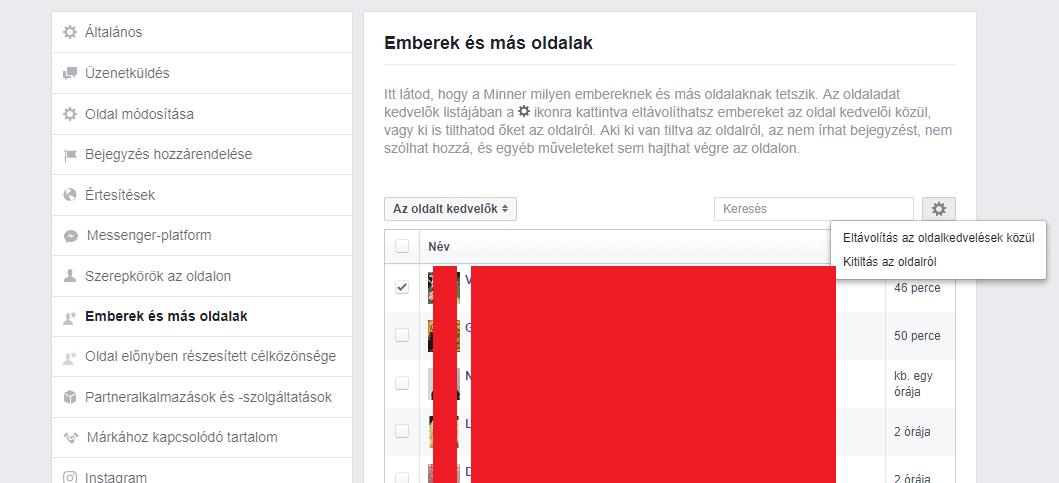 facebook kovetok torlese