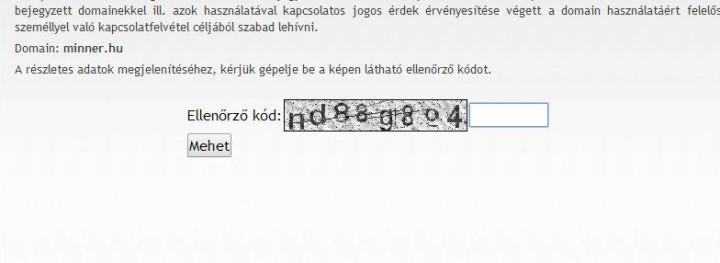 Domain keresés részletes
