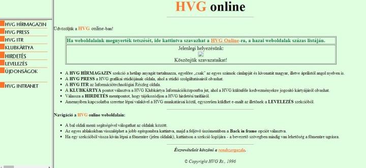 HVG Régen - https://web.archive.org/web/19961222145335/http://www.hvg.hu/