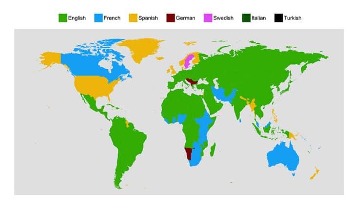 Első nyelvként ezeket szeretnék megtanulni az egyes országokban - forrás: Duolingo