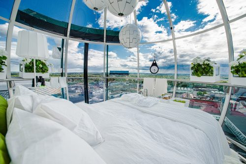 Airbnb has taken Stockholm's famous Skyview, a glass globe that rides atop the Ericsson Globen arena, and, together with IKEA, turned it into what will soon be the world's most sought after bedroom.