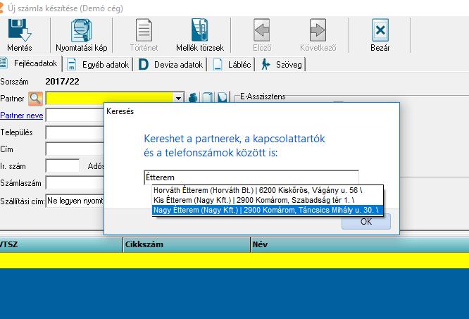 Partner gyors keresés - szamlazoprogramom.hu